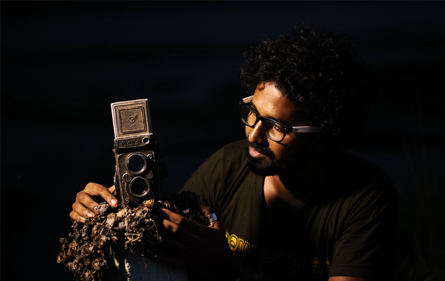 Anoop with the classic Yashica TLR Camera - Photoworld Studio
